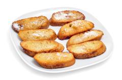 torrijas, typical spanish dessert for lent and easter - stock photo