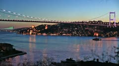 Fatih Sultan Mehmet Bridge Stock Footage
