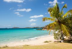 beach scene st thomas usvi - stock photo