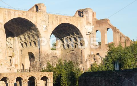 Stock photo of view of details of ancient rome