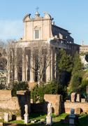 view of details of ancient rome - stock photo