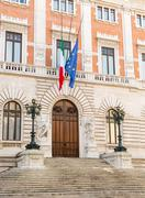 palazzo montecitorio chamber of deputies - stock photo