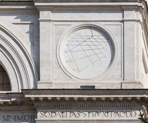 trinita dei monti church spanish steps - stock photo