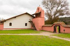 la purisima conception mission ca - stock photo