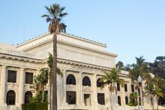 Ventura or san buenaventura city hall Stock Photos