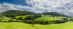 Panorama of welsh countryside Stock Photos