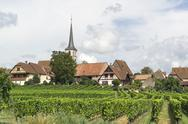 Stock Photo of mittelbergheim in france