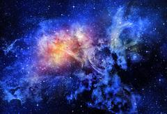 Starry deep outer space nebual and galaxy Stock Illustration