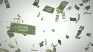 Stock Video Footage of passing us dollars on white