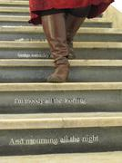 Quotation on the stair Stock Photos