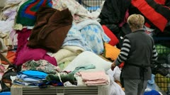 Recycling of Clothing & Textiles - stock footage