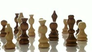 Chess Pieces On Rotating Display Stock Footage