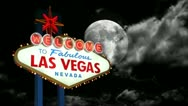 Stock Video Footage of Las Vegas Sign Time Lapse Night