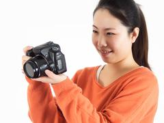 girl watching the camera - stock photo