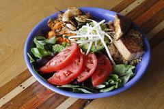 Vegetarian Tempeh Salad - stock photo
