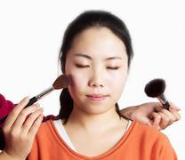 make-up girl - stock photo