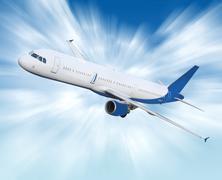 airliner - stock illustration