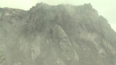 Large Volcano Active Lava Dome In Indonesia Stock Footage