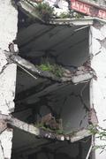 Fallen outer walls Stock Photos