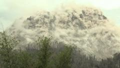 Earthquake Shakes Volcano Lava Dome Harvinainen Footage Arkistovideo
