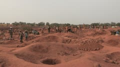 Burkina Faso: Gold panning Stock Footage