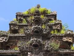 repeated balinese sculptures horizontal - stock photo