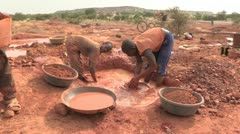 Burkina Faso: Panning for Gold! Stock Footage