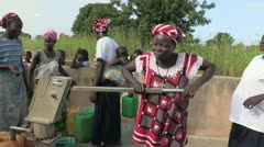 Burkina Faso: Pumping Water - stock footage
