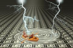 Financial Problem - stock illustration