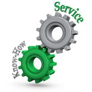 gears service know-how - stock illustration