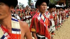 Chakhesang tribe from Nagaland, India Stock Footage