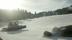 Snow Kat Run Stock Footage