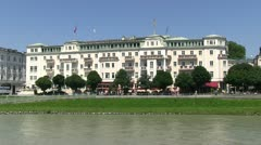 Salzburg Hotel Sacher Stock Footage