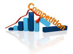 Growth ruined by competition Stock Illustration