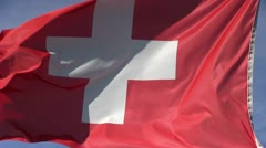 Swiss waving flag Stock Footage