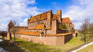 Stock Photo of medieval castle in malbork, poland