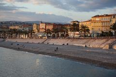 Promenade des Anglais 02 Stock Photos