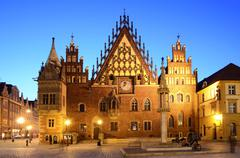Stock Photo of old city hall in wroclaw