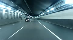 City Tunnel Night Stock Footage