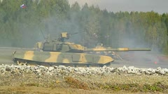 Tank T-90, military exercises-2 Stock Footage