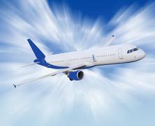 Airliner Stock Illustration