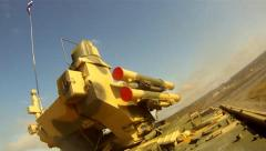 Russian army military field exercises - stock footage