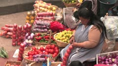 Tomato vendor Stock Footage