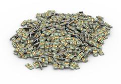 3d lot of dollar packs - stock illustration