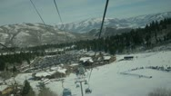 Snowboarding skylift Stock Footage