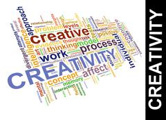 Creativity word tags Stock Illustration