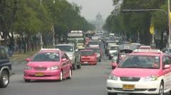 Avenue to Ananda Samakhom Throne Hall, Bangkok p36 Stock Footage