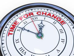 3d clock - time for change Stock Illustration