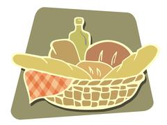 Breads Stock Illustration
