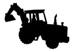 Bulldozer Stock Illustration